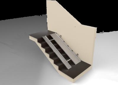 Откидной пандус из алюминия Универсальный